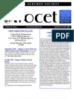 September-October 2008 Avocet Newsletter Tampa Audubon Society
