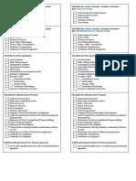 Checklist for Liquidation