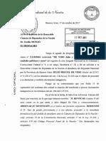De VIDO - Pedido de DESAFUERO - Expdte 0343-OV-2017 Diputados