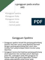 Jenis-jenis Gangguan Pada Analisa AAS
