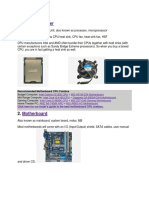 Parts of the Cpu