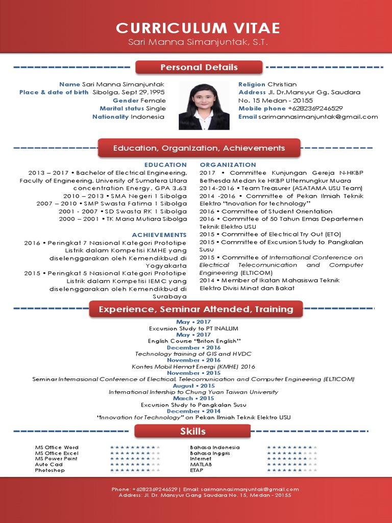 Curriculum Vitae Sari Manna