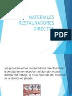 Materiales Restauradores Directos