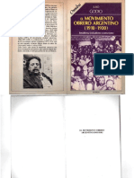 Godio, Julio - El Movimiento Obrero Argentino 1910-1930, Legasa, 1988