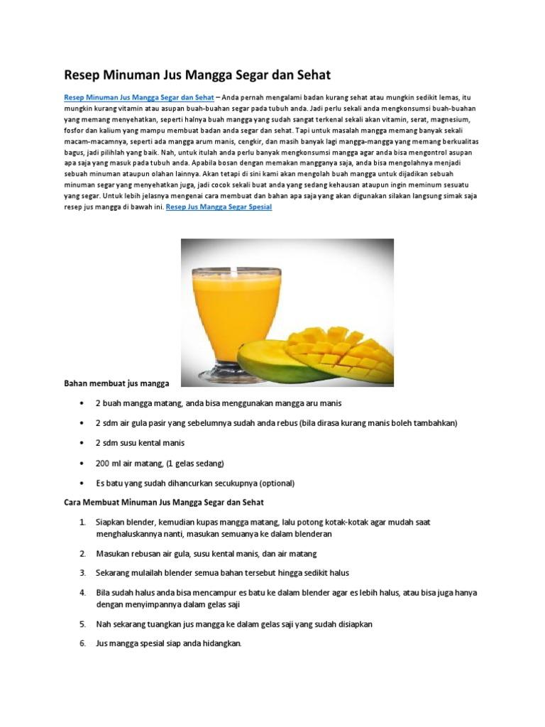 Teks Prosedur Cara Membuat Es Susu Dalam Bahasa Inggris ...