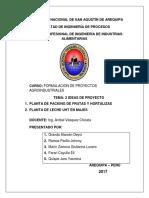 2 Ideas de Proyecto - Formulacion