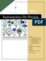 Informe de Control de Manejo Instrumentos de Presiones