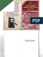 Godio, Julio - El Movimiento Obrero Argentino 1955-1990, Legasa, 1991