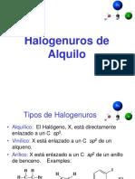 Teoria de Halogenuros de Alquilo