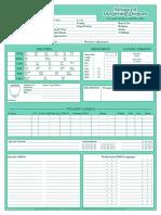 AD&D 2e Character Sheet