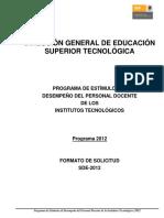 PEDPD Formato 2012v.1