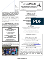March 2010 Hummer Newsletter West Volusia Audubon Society