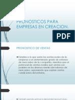 Pronosticos Para Empresas en Creacion
