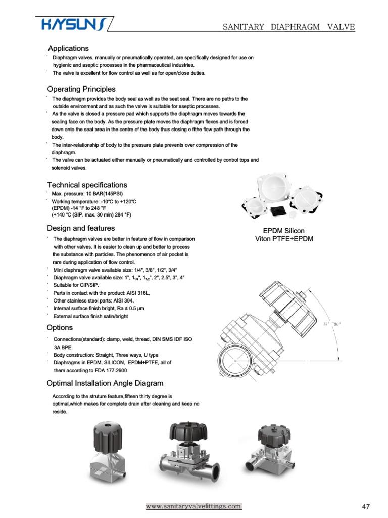 Sanitary diaphragm valve valve gas technologies ccuart Choice Image