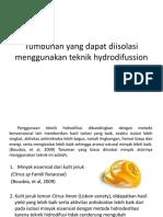 Tumbuhan Yang Dapat Diisolasi Menggunakan Teknik Hydrodifussion