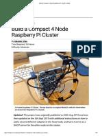 Build a Compact 4 Node Raspberry Pi Cluster _ Make