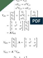 Symmetrical Components Equations