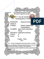 USO DE COORDENADAS RECTANGULARES Y POLARES