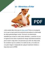 Acidez-Alimentos a Evitar
