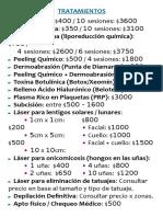 _Tratamientos y Precios - Ramos Mejia