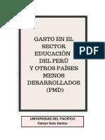 GASTO+EN+EL+SECTOR+EDUCACIO_N+DEL+PERU_+Y+OTROS+PAI_SES+MENOS+DESARROLLADOS