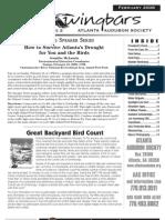 February 2008 Wingbars Newsletter Atlanta Audubon Society