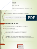 Risk and Types of Risk