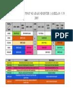 Jadual Waktu Pismp Sejarah Semester 1 Ambilan Jun 2015