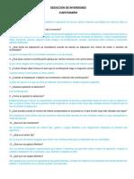 Cuestionario Deduccion de Inversiones