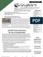 January 2010 Wingbars Newsletter Atlanta Audubon Society