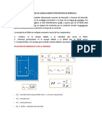Aplicaciones de Canales Abierto Por Metodo de Bernoulli