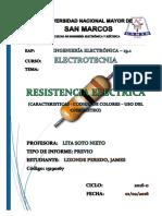 RESISTENCIA ELECTRICA- COMIENZO