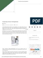 Prinsip Kerja Universal Testing Machine