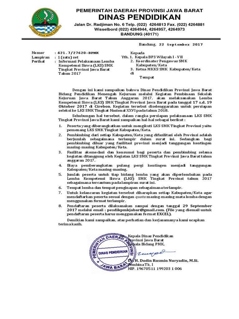 Kop Surat Dinas Pendidikan Kabupaten Cirebon - Contoh Kop ...