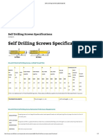 Self Drilling Screws Specifications