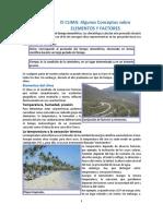 El Clima Algunso Conceptos Sobre Elementos y Factores