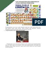 Perkembangan Dasar Pengelompokkan Unsur Kimia Pada Sistem Periodik
