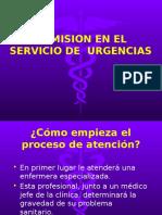 Admision en Urgencias