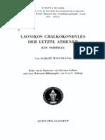 Wifstrand - Laonikos Chalkokondyles, Der Letzte Athener