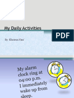 My Daily Activities