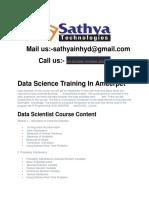 Data Science Training Institute In Hyderabad