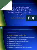 01. KTI -1 Pengertian, Ciri-2, & Cakupan