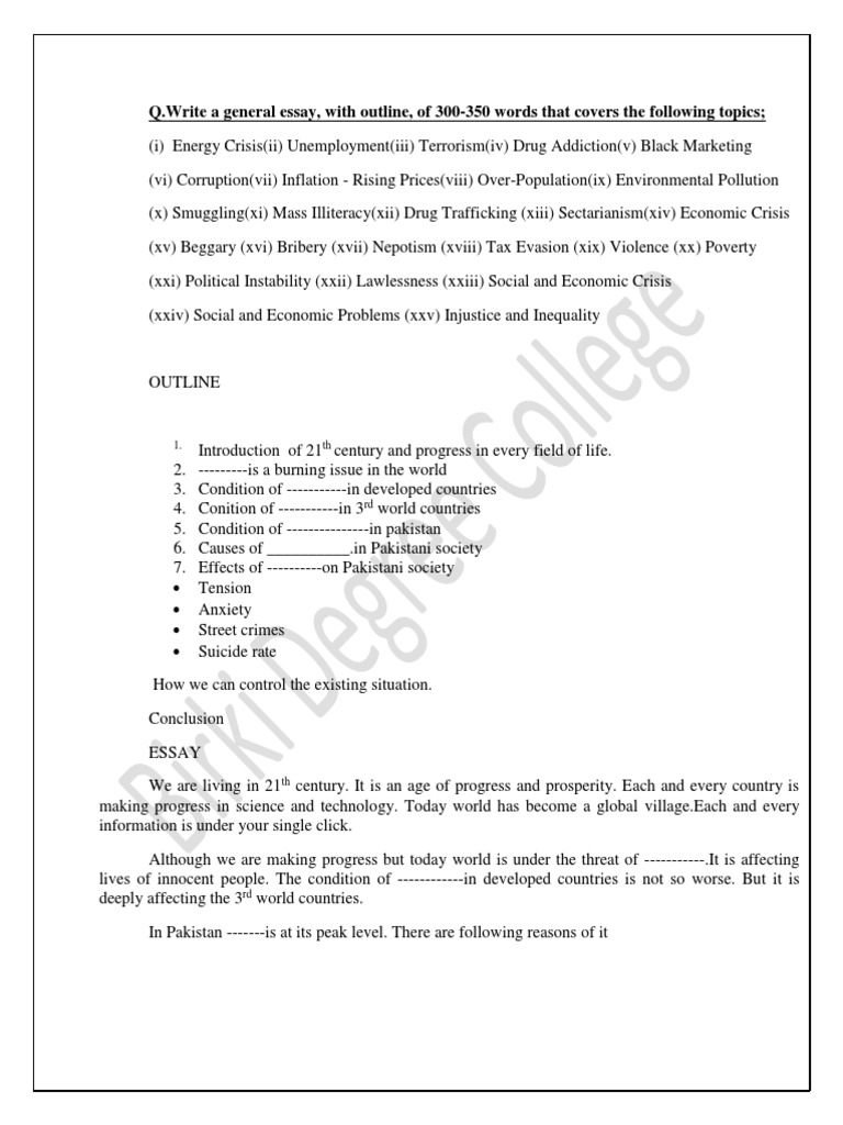 Poverty in pakistan 2011 essay how to write a good statement
