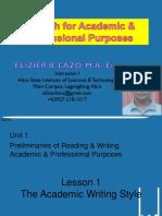 Unit 1 Lesson 1