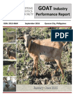 Goat Industry Performance Report, January - June 2016