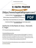 Authority in the Name of Jesus – Kenneth E