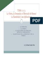 Tema 2 y 3 La Demanda, La Oferta,El Equilibrio y La Elasticidad-signed