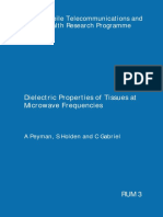 1. Dielectric Properties of Tissues at Microwave Frequencies