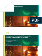 BRE Fire Conf 15 Development of a Standard for Personal Fire Protection Systems for Life Safety