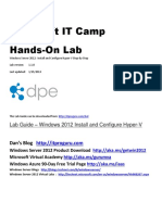 Install Enable and Configure Hyper v Getting Started Step by Step Guide IT Camp Hands on Lab